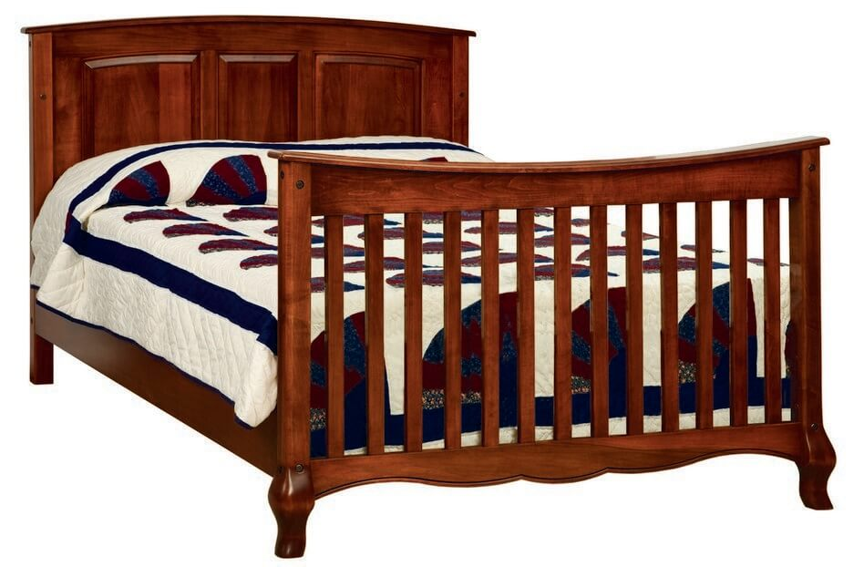 French Country Twin Bed with Slats