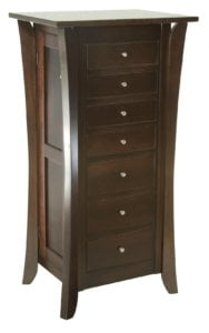J011175 Jewelry Armoire caledonia large brown maple