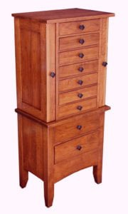 J012300 Jewelry Armoire-Mission,large-cherry
